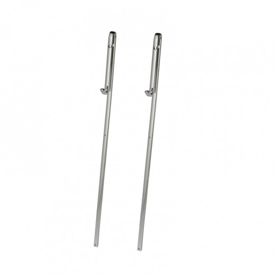 Option Couple Of Rods For Set Shower Glass Without Frame With Coat